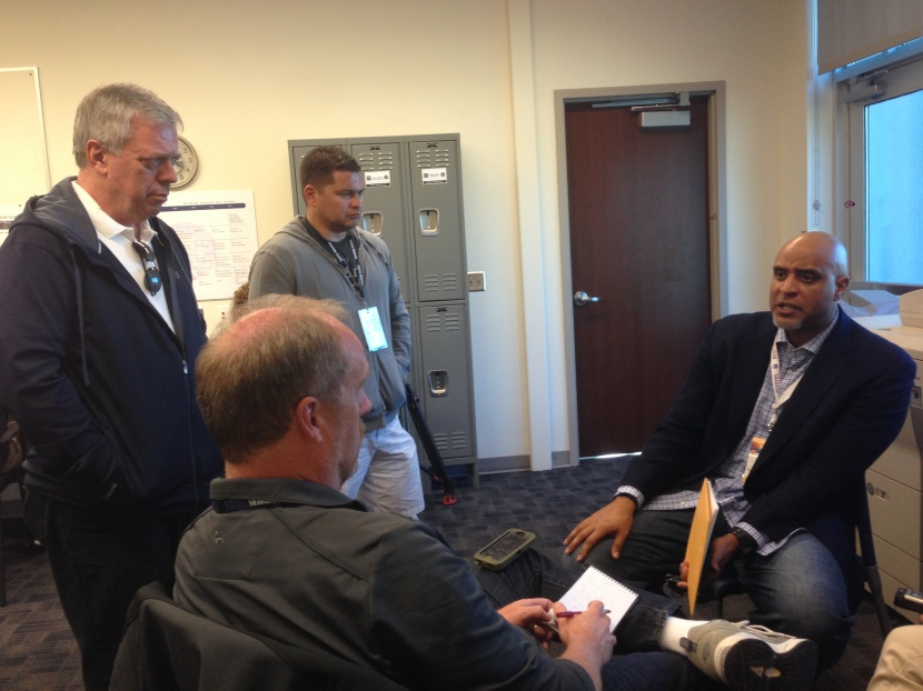 Tony Clark met with members of the Seattle media.
