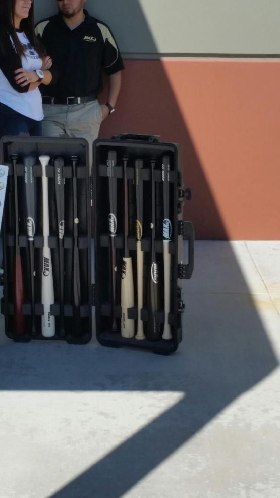 Max bats brought out some of their products to Major League camp.