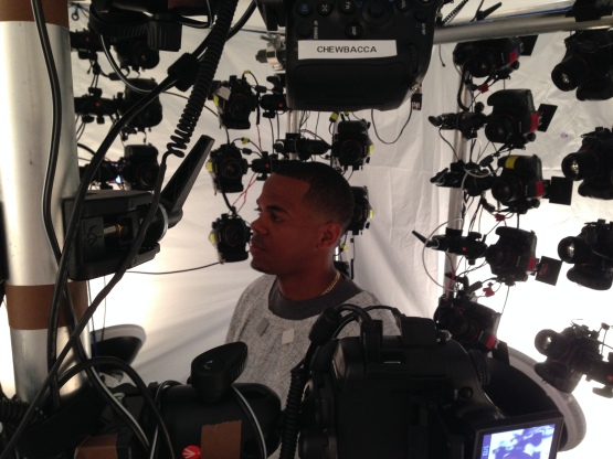 Roenis Elias is surrounded by 41 Sony Cameras.