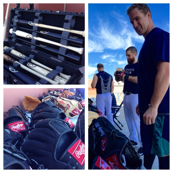 Patrick Kivlehan checks out the Rawlings products.