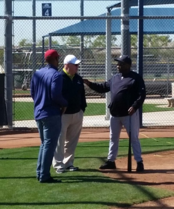 ESPN Analyst Chris Singleton also dropped by Mariners camp.