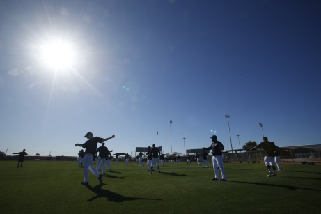 Another beautiful day of spring training.