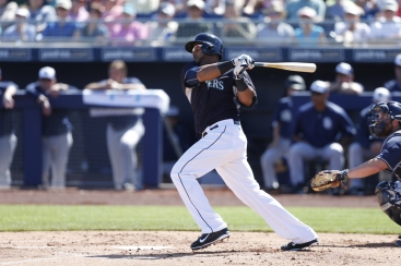 Nelson Cruz singled in his first at-bat.