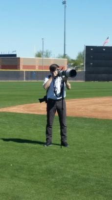 Mariners team photographer Ben Van Houten.