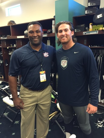 Brad Miller with his new Team USA gear (pictured with Ernie Young).