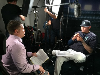 Ryan Divish interviewing King Felix.