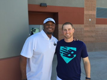 Shawn O'Malley with Ken Griffey Jr.