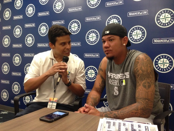 Diario Panorama's Augusto Cardenas checked in with Felix Hernandez.