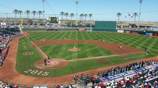 A beautiful day for Cactus League baseball.