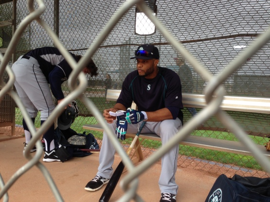 Robinson Cano prepares to take the field.