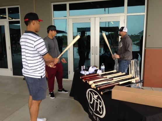 Dove Tail Bats showed off their products to Major and minor leaguers.