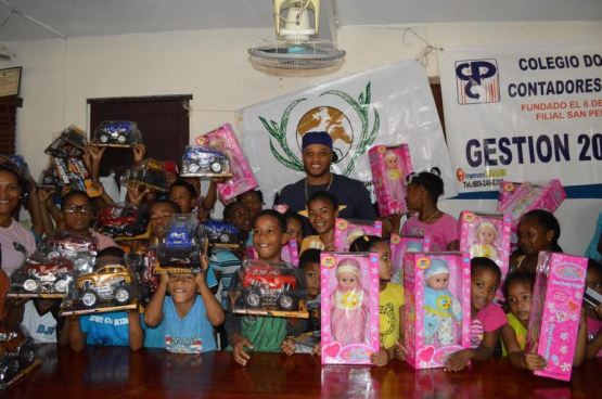The RC22 Foundation organizes a toy drive for local youths around the holidays.