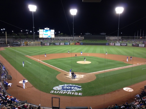 Mariners take on the Royals in Surprise, Arizona.