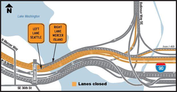 I-90 Detour Map