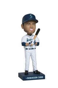 An autographed Robinson Cano baseball and bobblehead will be up for bid during the Saturday Mariners Care Silent Auction.