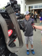 Evan Waara, a guest of the Mariners, talks about living with Cystic Fibrosis.