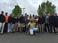 The Mariners players and celebrities prior to the start of the tournament.