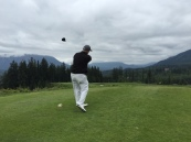Director of Team Travel Ron Spellecy with a nice tee shot.