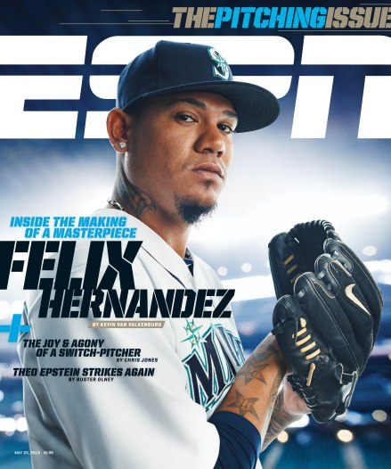 4/7/2015 Seattle, WA. Safeco Field. Felix Hernandez. Credit: Photograph by James Michelfelder and Therese Sommerseth @jamesmichelfelder and @sommerseth