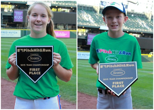 14 year Haley Loffer (left) and 10-year old Trevor Cogley (right), both of Hayden, Idaho, are headed to Cincinnati for the Pitch, Hit & Run National Finals next month during MLB All-Star Week.