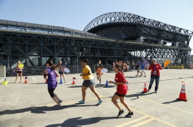 The 5K course sent fans all around Safeco Field.
