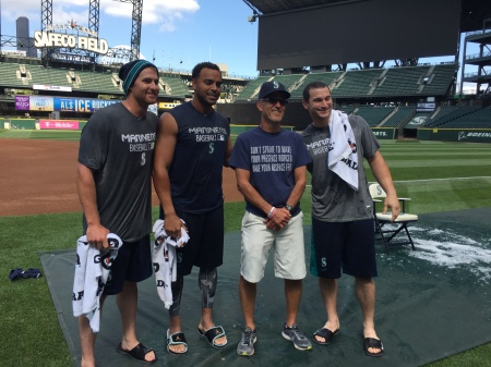 Brad Miller, Nelson Cruz, John Oakley and Mike Zunino.