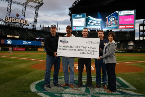 MillerCoors presented $251,600 to the Wildland Firefighters Foundation at Safeco Field.