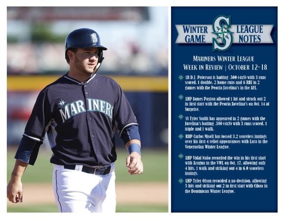 Mariners Winter League Weekly Review (10.19.15)
