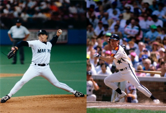 Mike Hampton (L) began his Major League career with the Mariners in 1993. Casey Candaele had an 18-year playing career (1983-2000) in the Montreal, Houston, Cincinnati, Cleveland, Los Angeles-NL, Pittsburgh and Florida organizations.