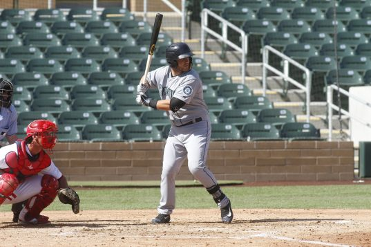 D.J. Peterson playing for the Peoria Javelina's in the Arizona Fall League. Photo Courtesy of Arizona Fall League.
