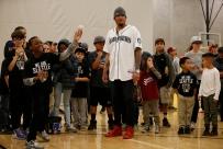 Kids at Rainier Vista Boys & Girls Club get pitching tips from Mariners ace Felix Hernandez.
