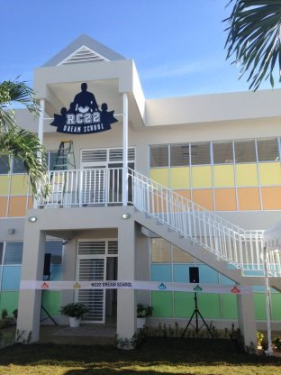 Final preparations for the RC22 DREAM School built by Mariners second baseman Robinson Canó, in his hometown in the Dominican Republic.