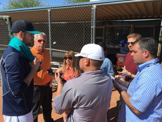 James Paxton with Media