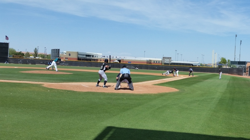 James Paxton makes a move to first base.
