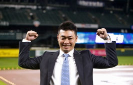 Seattle Mariners outfielder Nori Aoki poses for a photo following a news onference Thursday, Dec. 3, 2015, in Seattle. (AP Photo/Joe Nicholson)