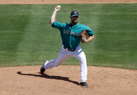 Seattle Mariners relief pitcher Tony Zych against the San Diego Padres during a spring training baseball game in Peoria, Ariz., Wednesday, March 30, 2016. (AP Photo/Jeff Chiu)