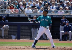 Seattle Mariners' Robinson Cano during a spring training baseball game against the San Diego Padres in Peoria, Ariz., Wednesday, March 30, 2016. (AP Photo/Jeff Chiu)