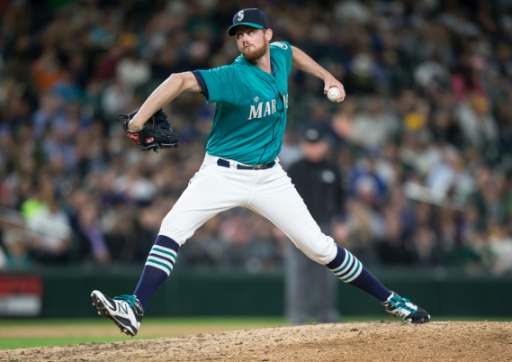 SEATTLE, WA - MAY 8: Charlie Furbush #41 of the Seattle Mariners delivers a pitch during a game against the Oakland Athletics at Safeco Field on May 8, 2015 in Seattle, Washington. The Mariners won the game 4-3 in eleven innings. (Photo by Stephen Brashear/Getty Images) *** Local Caption *** Charlie Furbush