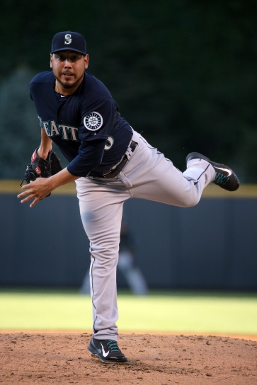 during interleague play at Coors Field on August 4, 2015 in Denver, Colorado.