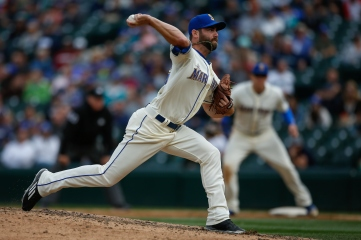 SEATTLE, WA - SEPTEMBER 13: Relief pitcher Tony Zych #55 of the Seattle Mariners pitches against the Colorado Rockies in the eighth inning at Safeco Field on September 13, 2015 in Seattle, Washington. The Rockies defeated the Mariners 3-2. (Photo by Otto Greule Jr/Getty Images)