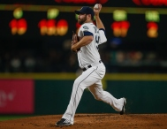 SEATTLE, WA - SEPTEMBER 30: Starting pitcher Tony Zych #55 of the Seattle Mariners pitches against the Houston Astros in the second inning at Safeco Field on September 30, 2015 in Seattle, Washington. (Photo by Otto Greule Jr/Getty Images)