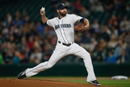 SEATTLE, WA - SEPTEMBER 30: Starting pitcher Tony Zych #55 of the Seattle Mariners pitches against the Houston Astros in the first inning at Safeco Field on September 30, 2015 in Seattle, Washington. (Photo by Otto Greule Jr/Getty Images)