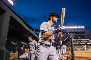 BALTIMORE, MD - MAY 20: Chris Taylor #1 of the Seattle Mariners looks on during the game against the Baltimore Orioles at Oriole Park at Camden Yards on Wednesday, May 20, 2015 in Baltimore, Maryland. (Photo by Rob Tringali/MLB Photos via Getty Images)