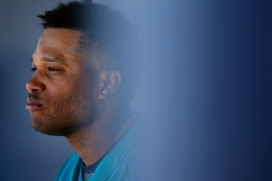 PEORIA, AZ - MARCH 10: Robinson Cano #22 of the Seattle Mariners stands in the dugout during the spring training game against the Chicago Cubs at Peoria Stadium on March 10, 2016 in Peoria, Arizona. (Photo by Christian Petersen/Getty Images)