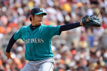SCOTTSDALE, AZ - MARCH 11: Starting pitcher Hisashi Iwakuma #18 of the Seattle Mariners delivers a pitch in the first inning of the spring training game against the San Francisco Giants at Scottsdale Stadium on March 11, 2016 in Scottsdale, Arizona. (Photo by Jennifer Stewart/Getty Images)