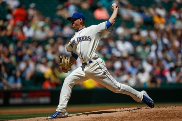 SEATTLE, WA - JUNE 07: Starting pitcher Mike Montgomery #37 of the Seattle Mariners pitches against the Tampa Bay Rays in the first inning at Safeco Field on June 7, 2015 in Seattle, Washington. (Photo by Otto Greule Jr/Getty Images)