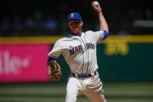 SEATTLE, WA - JUNE 07: Starting pitcher Mike Montgomery #37 of the Seattle Mariners pitches against the Tampa Bay Rays in the second inning at Safeco Field on June 7, 2015 in Seattle, Washington. (Photo by Otto Greule Jr/Getty Images)