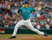 SEATTLE, WA - JULY 10: Starting pitcher Mike Montgomery #37 of the Seattle Mariners pitches against the Los Angeles Angels of Anaheim in the second inning at Safeco Field on July 10, 2015 in Seattle, Washington. (Photo by Otto Greule Jr/Getty Images)
