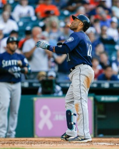 HOUSTON, TX - MAY 07:  Robinson Cano #22 of the Seattle Mariners hits a home run in the third inning against the Houston Astros on May 07, 2016 in Houston, Texas.  (Photo by Bob Levey/Getty Images)