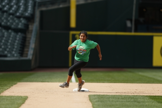 Kaiea Higa of Maple Valley, is competing against kids from across the country at the MLB Pitch, Hit & Run National Finals during All-Star Week at Petco Park.